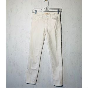 Tory Burch Cropped Skinny Jeans White Size 24